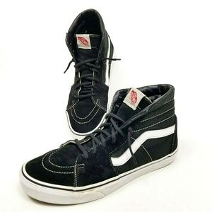 Vans Off The Wall Sk8 Hi Black White Canvas Suede